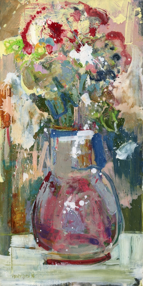 Flowers in a Red Vase_50x100cm_ooc_04.2016
