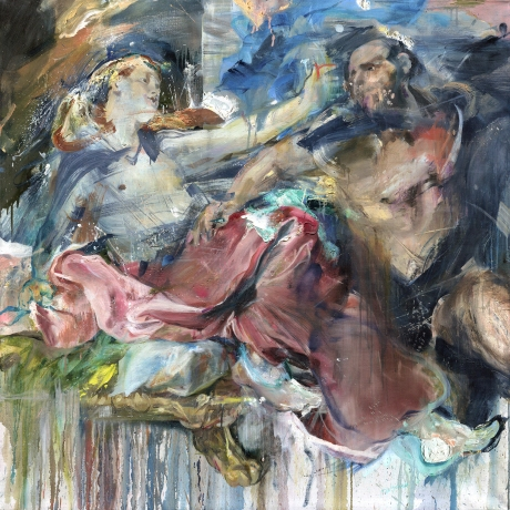 Samson and Delilah (after Van Dyck)_140x140cm_09.2018-01.2019