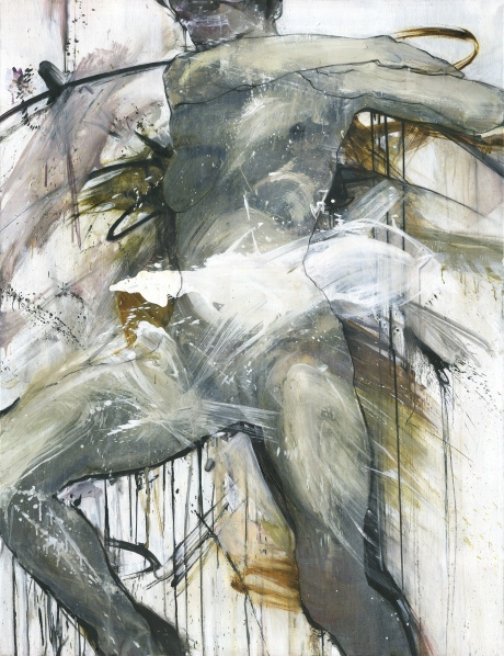 Seated Nude with Raised Hands_130x100cm_09-12.2019